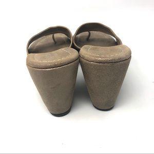 Donald J. Pliner Shoes - Donald J Pliner Leather Wedge Slides Sandals